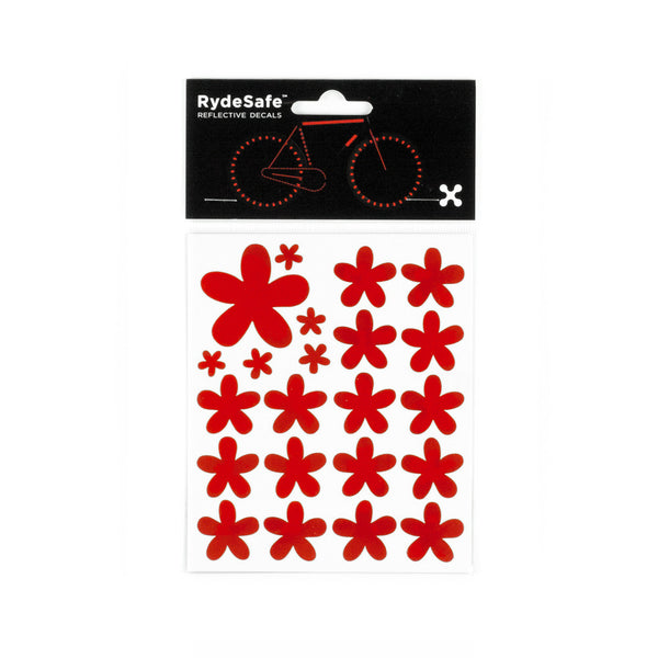 RydeSafe Reflective Decals - Flowers Kit (red)