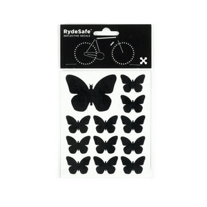 RydeSafe Reflective Decals - Butterflies Kit (black)