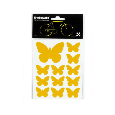 RydeSafe Reflective Decals - Butterflies Kit (yellow)