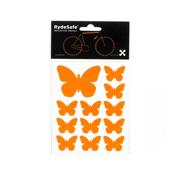 RydeSafe Reflective Decals - Butterflies Kit (orange)