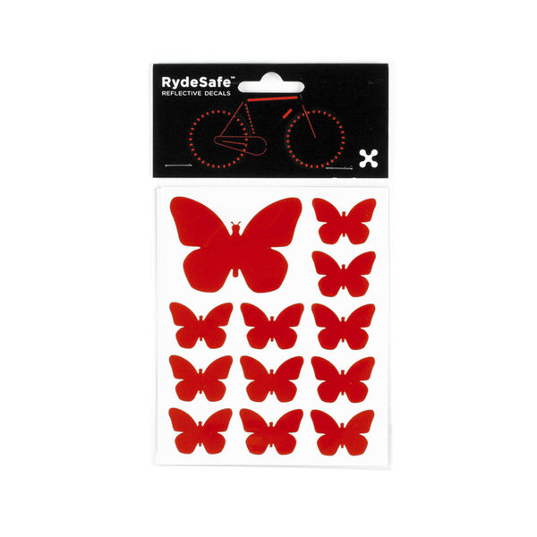 RydeSafe Reflective Decals - Butterflies Kit (red)