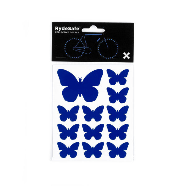 RydeSafe Reflective Decals - Butterflies Kit (blue)
