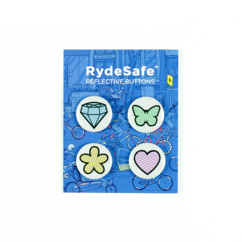 RydeSafe Reflective Button Kits - (4 PACK)