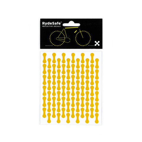 RydeSafe Reflective Decals - Chain Wrap Kit (yellow)