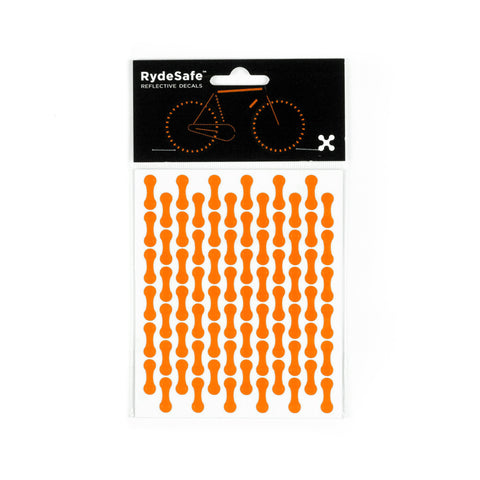RydeSafe Reflective Decals - Chain Wrap Kit (orange)