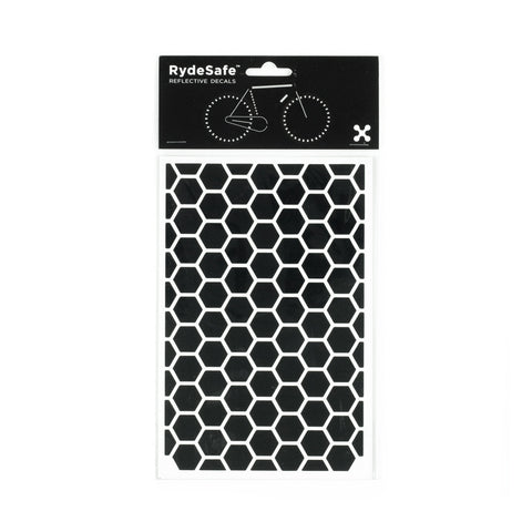 RydeSafe Reflective Decals - Hexagon Kit - Large (black)