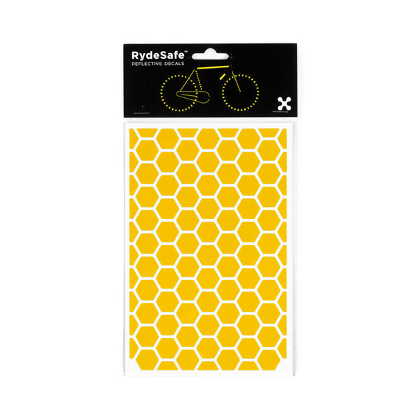 RydeSafe Reflective Decals - Hexagon Kit - Large (yellow)
