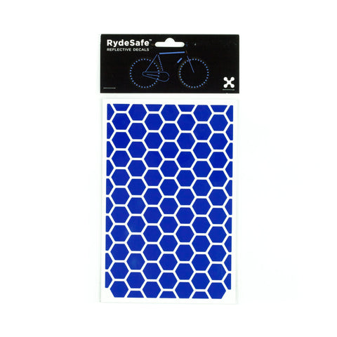 RydeSafe Reflective Decals - Hexagon Kit - Large (blue)
