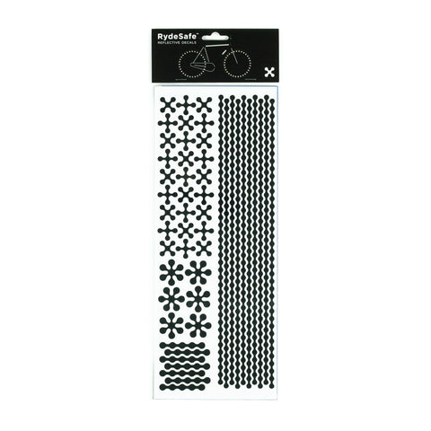 RydeSafe Reflective Decals - Modular Kit - Jumbo (black)