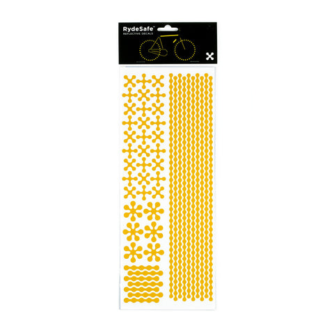 RydeSafe Reflective Decals - Modular Kit - Jumbo (yellow) bike stickers