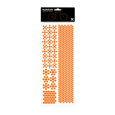 RydeSafe Reflective Decals - Modular Kit - Jumbo (orange)