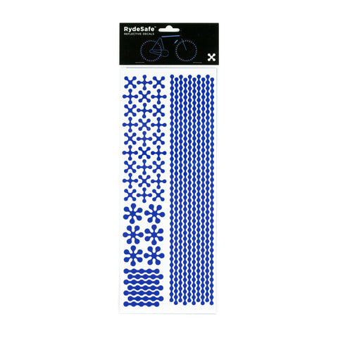 RydeSafe Reflective Decals - Modular Kit - Jumbo (blue)