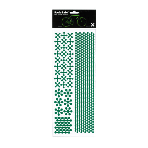 RydeSafe Reflective Decals - Modular Kit - Jumbo (green)