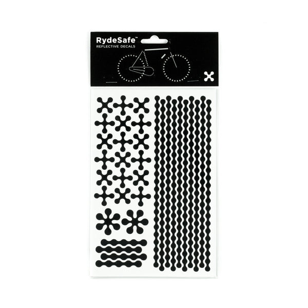 RydeSafe Reflective Decals - Modular Kit - Large (black)