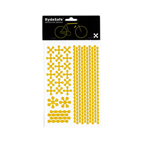 RydeSafe Reflective Decals - Modular Kit - Large (yellow)