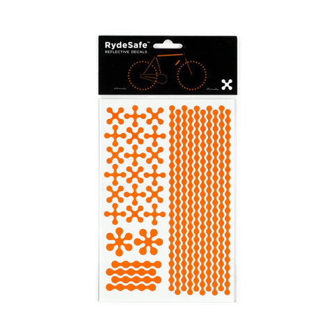 RydeSafe Reflective Decals - Modular Kit - Large (orange)