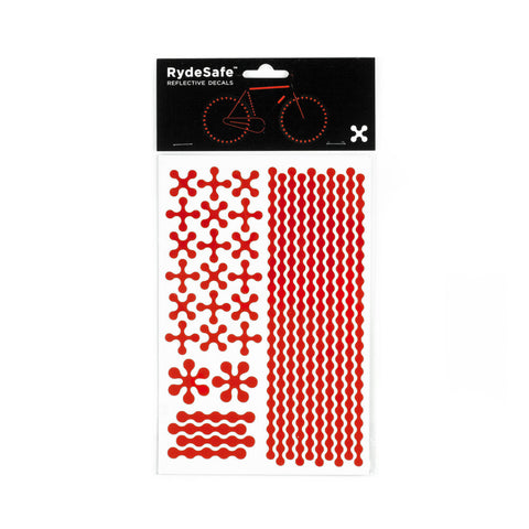 RydeSafe Reflective Decals - Modular Kit - Large (red)