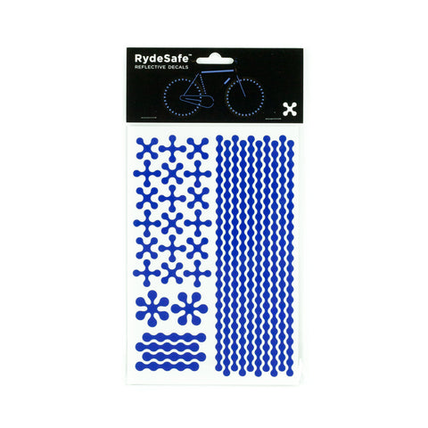 RydeSafe Reflective Decals - Modular Kit - Large (blue)