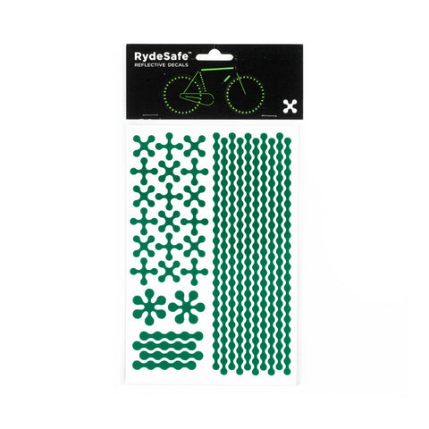 RydeSafe Reflective Decals - Modular Kit - Large (green)