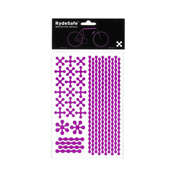 RydeSafe Reflective Decals - Modular Kit - Large (violet)