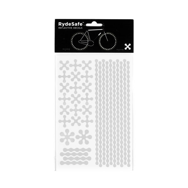 RydeSafe Reflective stickers - jumbo modular kit - white