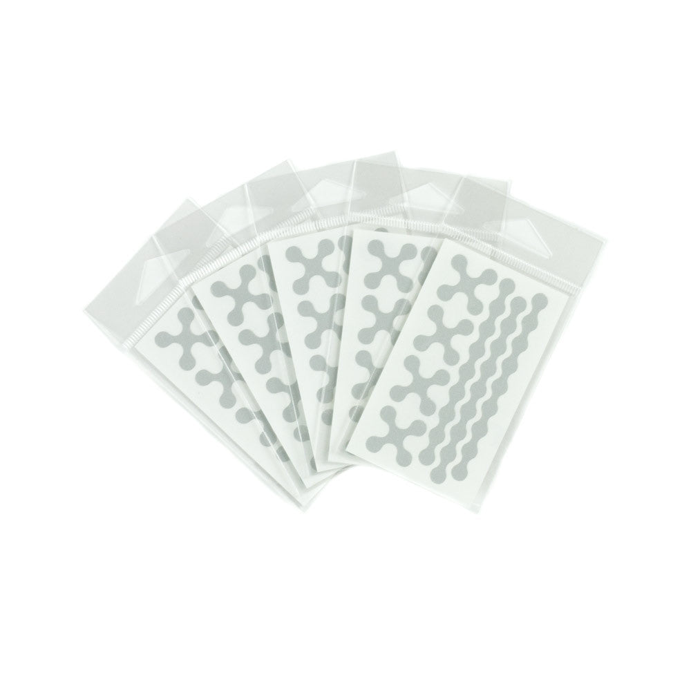 RydeSafe Reflective Decals - Modular Mini 5 Pack (white)