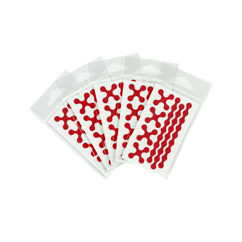 RydeSafe Reflective Decals - Modular Mini 5 Pack (red)
