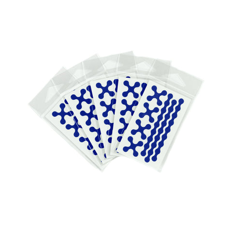 RydeSafe Reflective Decals - Modular Mini 5 Pack (blue)