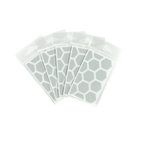 RydeSafe Reflective Decals - Hexagon Mini 5 Pack (white)