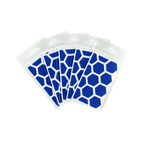 RydeSafe Reflective Decals - Hexagon Mini 5 Pack (blue)