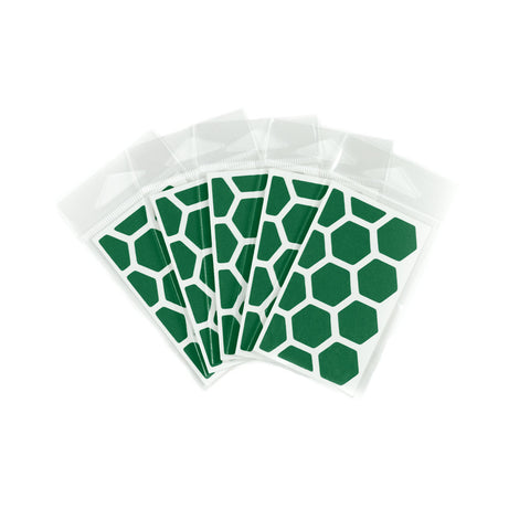 RydeSafe Reflective Decals - Hexagon Mini 5 Pack (green)