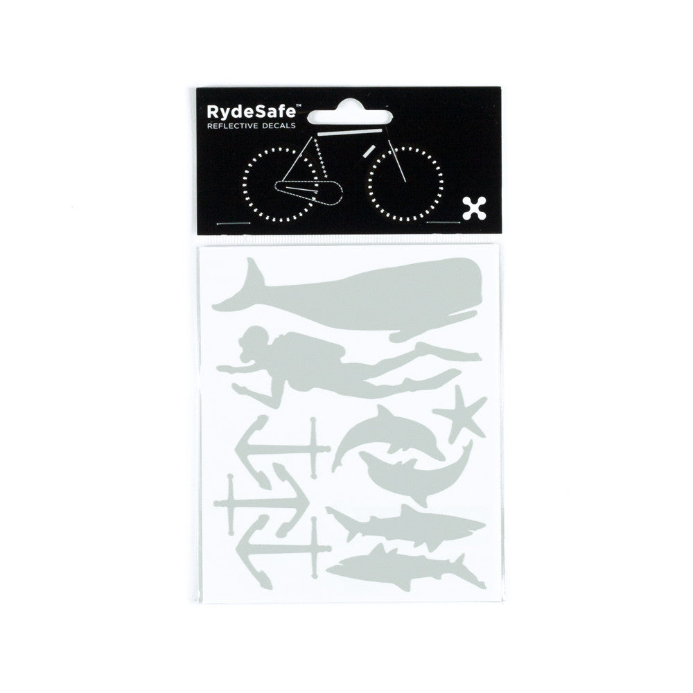 RydeSafe Reflective Decals - Nautical Kit (white)