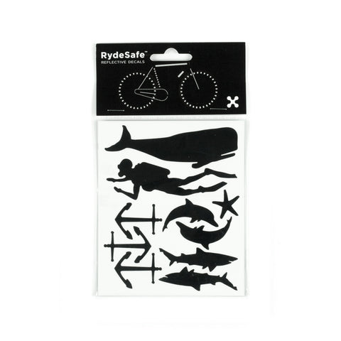 RydeSafe Reflective Decals - Nautical Kit (black)