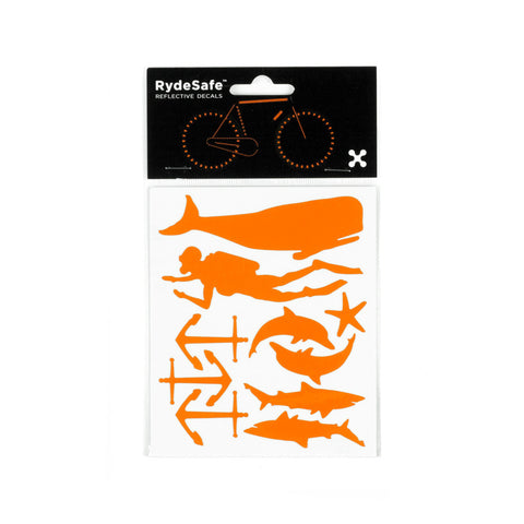 RydeSafe Reflective Decals - Nautical Kit (orange)