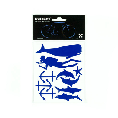 RydeSafe Reflective Decals - Nautical Kit (blue)