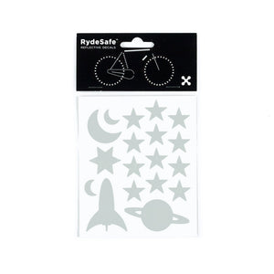RydeSafe Reflective Decals - Outer Space Kit (white)