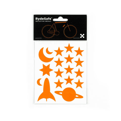 RydeSafe Reflective Decals - Outer Space Kit (orange)