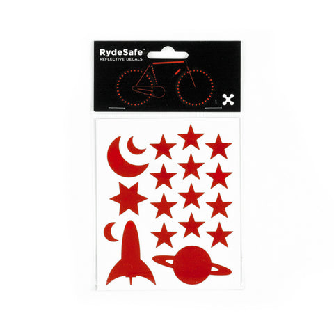 RydeSafe Reflective Decals - Outer Space Kit (red)