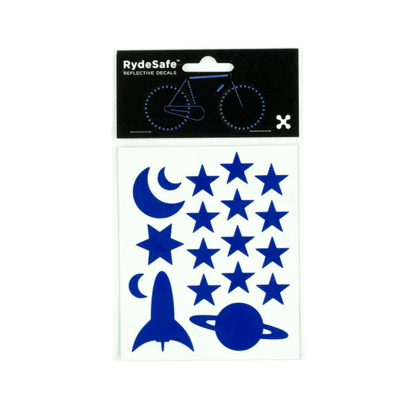 RydeSafe Reflective Decals - Outer Space Kit (blue)
