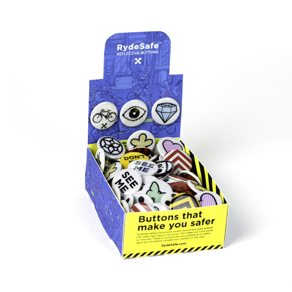 RydeSafe Reflective Button Box (120 Buttons)