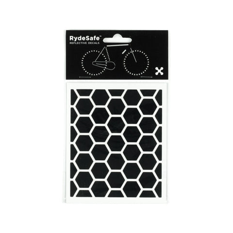 RydeSafe Reflective Decals - Hexagon Kit - Small (black)