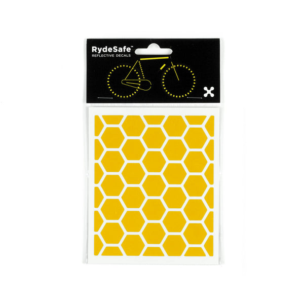 RydeSafe Reflective Decals - Hexagon Kit - Small (yellow)