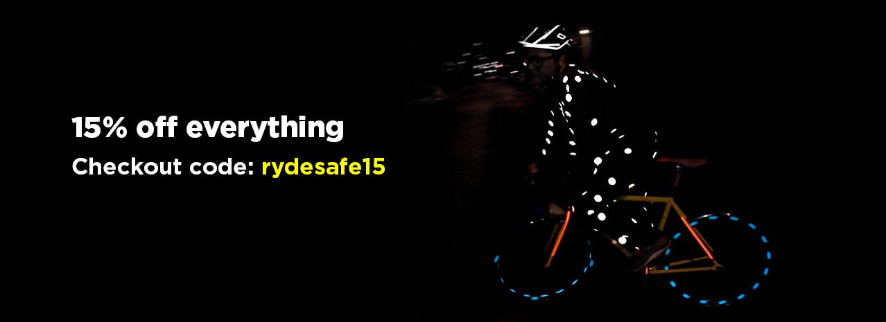 RydeSafe Reflective Decals bike safety stickers