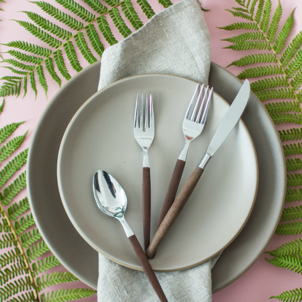 Heath Ceramics Coupe Line Salad Plate Rental: Fawn Cocoa