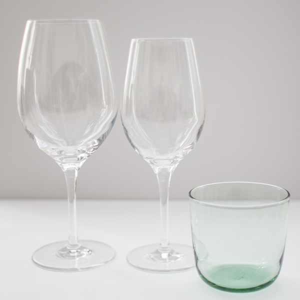 Gentle Green Glass Cups