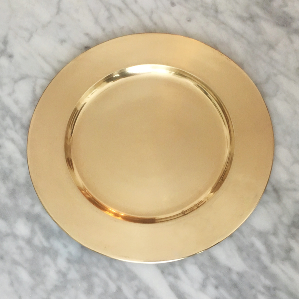 Vintage Raw Brass Charger Plates