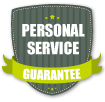 Harrison's Personal Service Guarantee Badge
