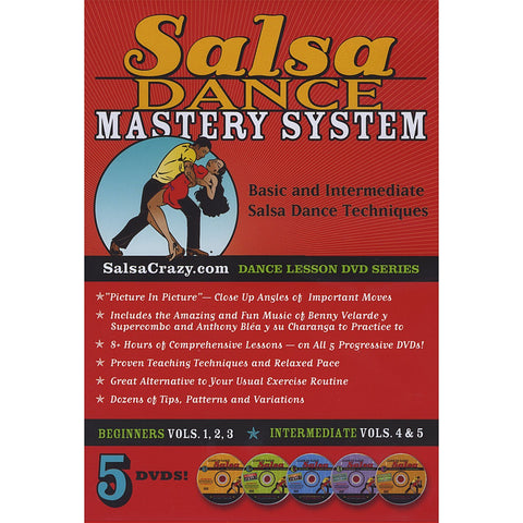Salsa Dance Mastery System (5 DVD SET) - Beginning and Intermediate Salsa Dancing