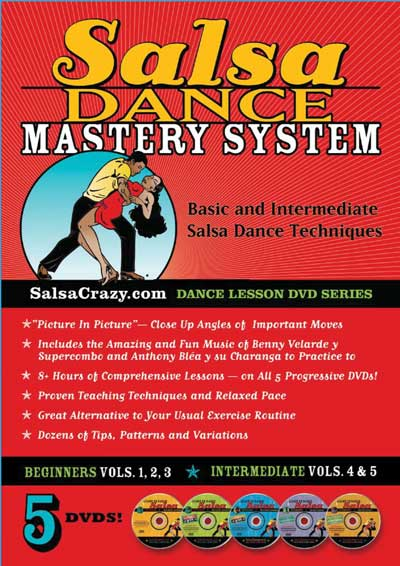 Streaming - Salsa Dance Mastery System (5 DVDs) - Beginning and Intermediate, Streaming Course [ONLINE ONLY]