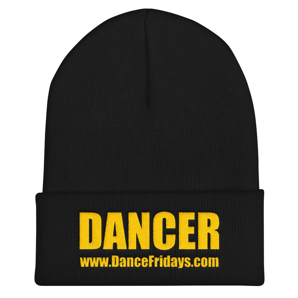 Dance Fridays Beanie Hat - Cuffed Embroidered
